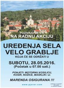 Radna akcija Uređenja sela Velo Grablje